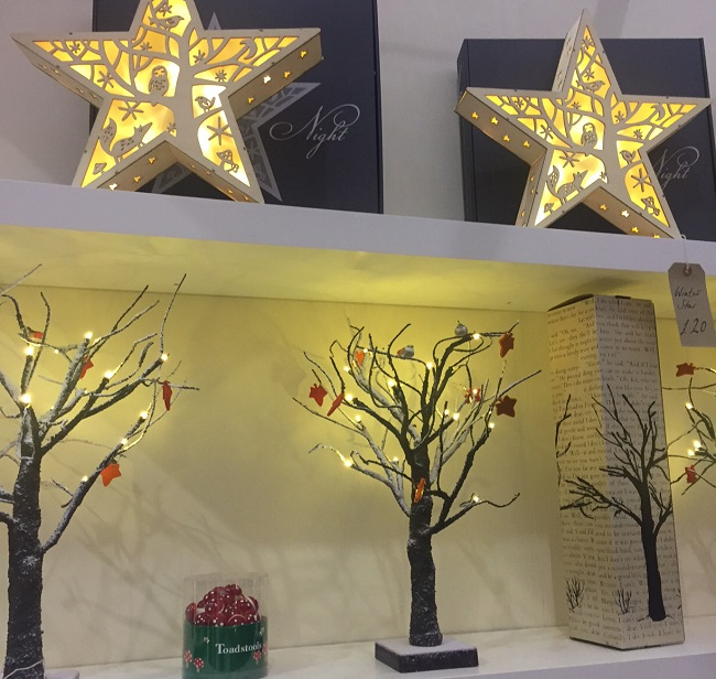 Stars and trees from Light Style London. If I had my way, practically everything would come with fairy lights.