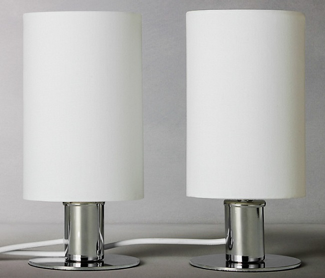 How chic are these! My search for new simple white lamps found these at John Lewis. It's just £25 for the pair.