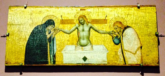 One of my favourite paintings from Flesh mainly because it's so old - 1350 -and so startlingly vivid.