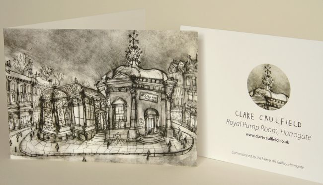 Clare Caulfield's drypoint etchings are also available as cards.